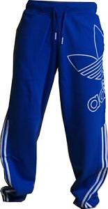 Adidas Herren Jogginghose Fleece Trainingshose Originals Sporthose Blau S