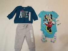 Lot of 4 baby girl sweater top sweatpant by baby r us Disney sz 3-6 Months NWT
