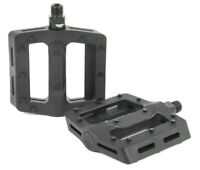 SHADOW CONSPIRACY SURFACE PLASTIC BMX BIKE PEDALS FIT HARO ODYSSEY CULT SE BLACK