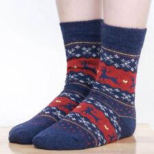 Women Christmas Festive Warm Cotton Wool Socks Cute Santa Claus Deer Xmas Gifts