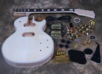 Electric Guitar Kits Flamed Maple Unfinished Guitar DIY Guitar Grover Tuner