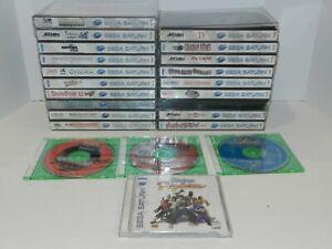 Sega Saturn Games Complete Fun You Pick & Choose Video Games Lot RARES RPG