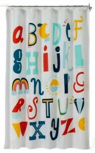 Kids Bathroom ABC's Fabric Shower Curtain - Pillowfort - 72x72 NEW
