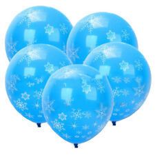 12PCS Frozen Snowflakes Latex Balloons Birthday Party Supplies Decoration  @bai