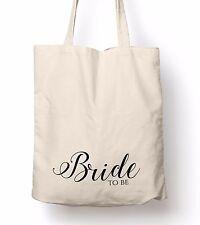Wedding Party Cotton Tote Bags Hen Do Bridesmaid Bride Favour Keepsake Gift Bag