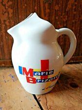 """ANCIEN pichet """"Marie Brizard"""" à l'eau glacée carafe BISTROT boisson bar VINTAGE"""