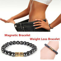 Magnetic Bracelet Crystal Bead Hematite Stone Therapy Health Care Jewelry Jd