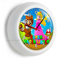SUPER MARIO WORLD PRINCESS PEACH WALL CLOCK KIDS GIRLS BEDROOM ROOM DECORATION