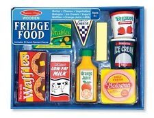 FRIDGE FOOD 4076 ~ Wooden Play Food Set~Day Care, PreK, Melissa & and Doug