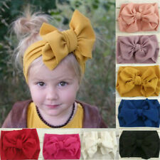Fashion Baby Girls Bow Headband Infant Toddler Turban Knot Hair Band Head Wrap