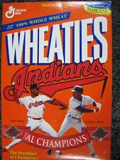 Wheaties Empty Box Cleveland Indians 1995 AL Champions