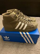 NWB Adidas Originals Pro Model Men's Shoes S 10,5 Olive-white-gold
