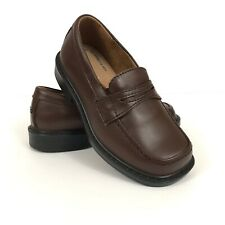 HUSH PUPPIES Young Boys Brown Leather Dress Shoes Size 11