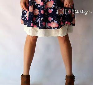 Half Slip Lace Dress Skirt Extender *style 5*--5 Colors, Sizes S-3XL