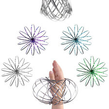 Flow Ring Bracelet - Magic 3D Kinetic Vortex Spring Arm Slinky Juggle Dance Toy