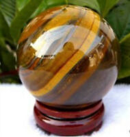 NEW 40mm Natural African roaring Tiger's Eye quartz crystal sphere ball AAA +