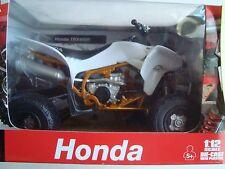ATV QUAD HONDA TRX 450 R BLANC  1/12°  NEUF EN BOITE NEW RAY  13 CM LONG