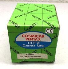 "COSMICAR PENTAX C60631 CCTV CAMERA LENS 6MM F/1.4 1/2"" VIDEO/AL CS-M  (H6)"