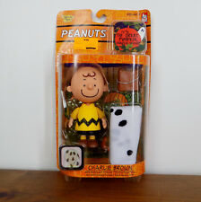 Peanuts GREAT PUMPKIN  CHARLIE BROWN Figure – with costume & bag of rocks - NEW