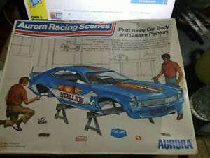 1973 Aurora Racing Scenes Pinto Funny Car Body And Custom Painters 1/16 Scale