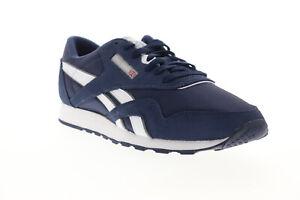 Reebok Classic Nylon FV1595 Mens Blue Nylon Lifestyle Sneakers Shoes 7