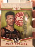 John Collins Hawks 2017-18 Donruss Rookie Kings RC Rookie Insert Card #19