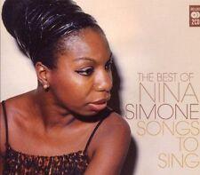 Nina Simone - Songs to Sing (Very Best Of Nina Simone) (2CD Set 2010) New
