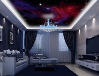 3D Purple Clouds Stars 89 Wall Paper Wall Print Decal Wall Deco AJ WALLPAPER