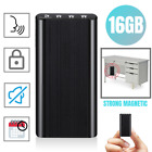 240 Hr Spy Digital Voice Activated Recorder Mini Audio Magnetic 16GB MP3 Player