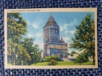 1940s Garfield Memorial Cleveland Ohio OH Linen Postcard