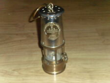 """VINTAGE ECCLES PROTECTOR LAMP & LIGHTING TYPE 6"""" BRASS & CHROME COAL MINERS LAMP"""