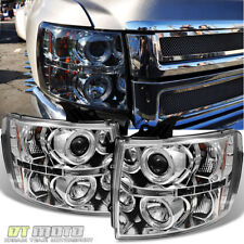 2007-2013 Chevy Silverado 1500 2500HD 3500HD LED Projector Headlights Left+Right