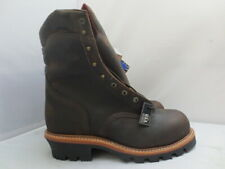 Men's Chippewa Brown Steel Toe Logger Work Boot Size 13 EEE Made in USA #25405