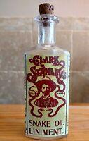 Vintage Medicine Hand Crafted Bottle, Snake Oil Liniment (Clark Stanley's)