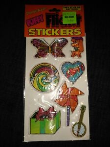 1983 Gordy Change-Action Puffy Flicker Stickers New in Package