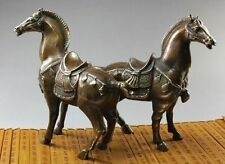 Collection Chinese brass horse sculpture statue 17x16 cm 1PC  hot