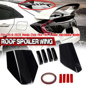 For Honda Civic FK4 FK7 5 Door Hatchback 2016-2021 Black Rear Roof Spoiler Wing