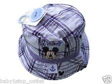 Niño Disney Mickey Mouse Pescador Sombrero De Sol Azul 0-6 6-12 12-23 Meses 2-4Y