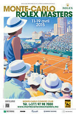 MONTE-CARLO ROLEX MASTERS 2015 ATP Masters 1000 Affiche Poster (Andrew Davidson)