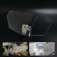 Motorcycle Clip-on Windshield Windscreen Extension Deflector Universal Fit