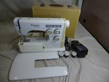 Vintage VIKING HUSQVARNA Model 6020 SEWING MACHINE w/ Case, Extender & Cams