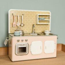 Maileg Retro Kitchen in Powder Pink, Brand New With Box, 8 Utensils, RRP £200+
