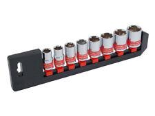 8 pièces 1.3cm MOTEUR ensemble de douilles avec rangement RAIL - 13 14 16 17 19