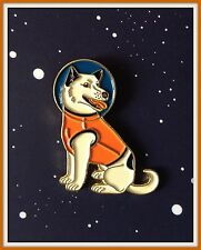 SPACE USSR Belka Strelka Laika Dog ANIMALS Suit RARE Russian modern BADGE PIN