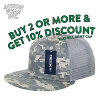 def2bd43ff3 DECKY MENS ARMY MESH TRUCKER HAT BASEBALL HATS SNAPBACK CAP CAPS CAMO BDU  SOLID