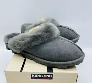 Kirkland Signature Ladies' Shearling Slippers - GREY