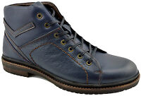 $200 REACTOR Blue Calf Leather Ankle Boots Men Shoes
