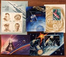 Selyn of 5 different ussr space mini sheets MUH .