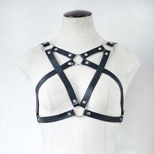 Gothic Harness Sexy Punk Pu Leather Harness Bondage Body Pentagram Star Belt