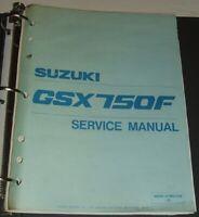1989 thru 1997 SUZUKI 750 KATANA GSX750F GSX750 GSX Service Manual & Parts Guide